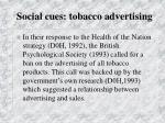 social cues tobacco advertising