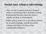 social cues tobacco advertising75