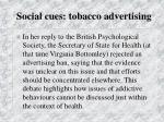 social cues tobacco advertising76