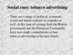 social cues tobacco advertising77