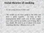 social theories of smoking37