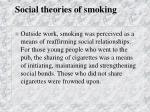 social theories of smoking39