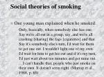 social theories of smoking40