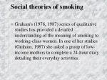 social theories of smoking41