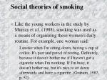 social theories of smoking42