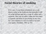 social theories of smoking45