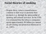 social theories of smoking48