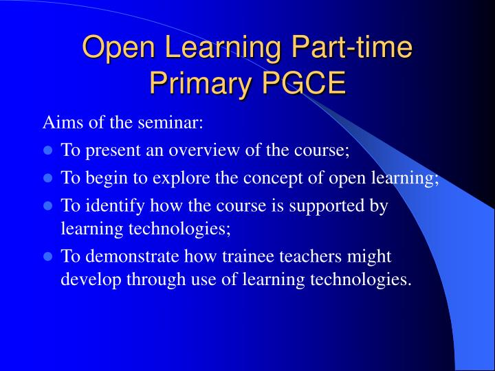 pgce learning