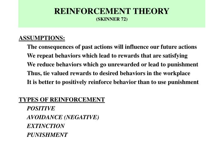 Reinforcement theory skinner 72