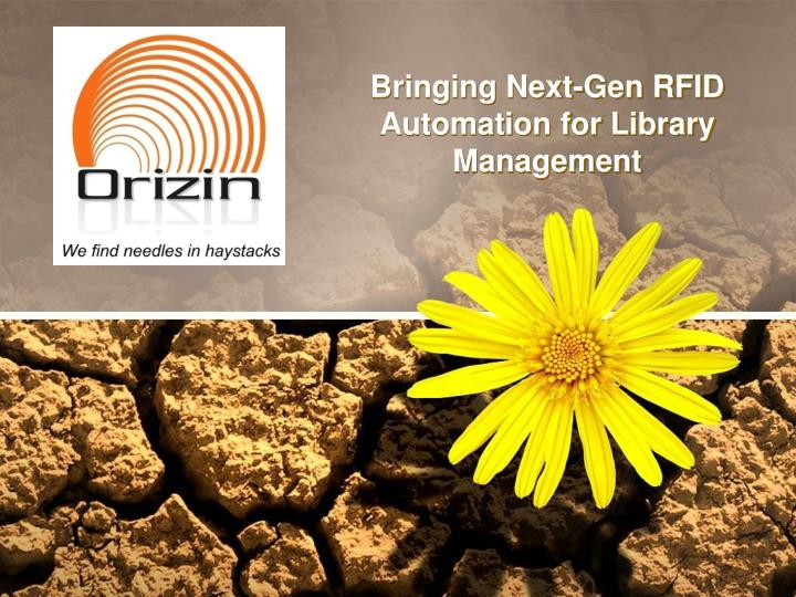 bringing next gen rfid automation for library management n.