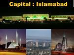 capital islamabad