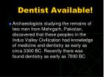 dentist available