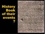 history book of their events