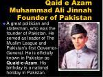 qaid e azam muhammad ali jinnah founder of pakistan