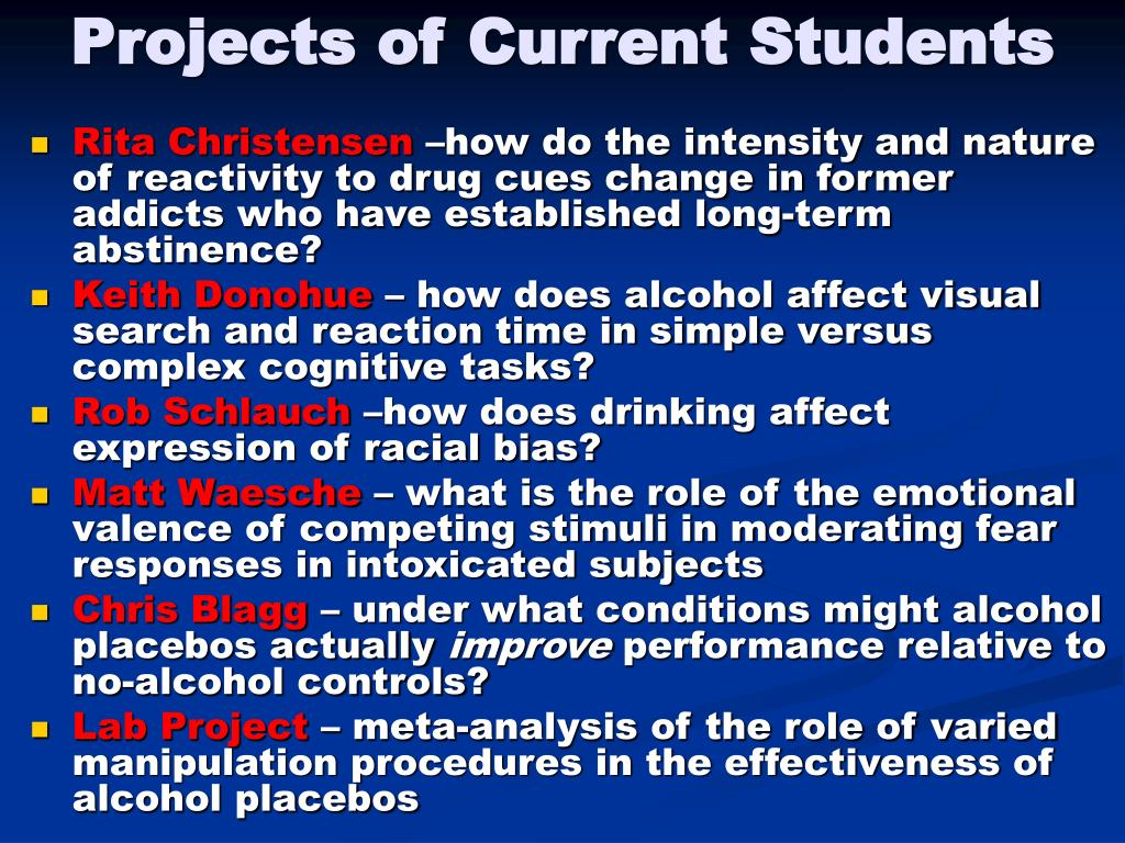 Projects of Current Students