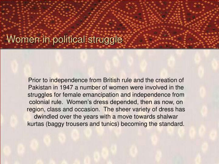 Women in political struggle