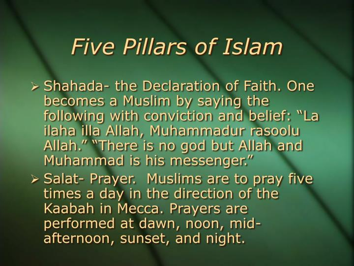 five pillars of islam 3 essay Five pillars of islam are its unifying characteristic they are the primary aspect of religion these five pillars include tauhid, which is the first and most important it is faith in one true god, allah.