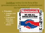 socialism society in the form of the government owns the means of production and key infrastructure