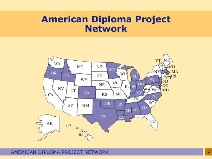 American diploma project network