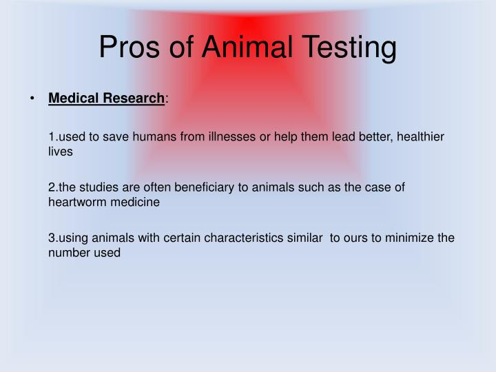 Animal testing cons essay