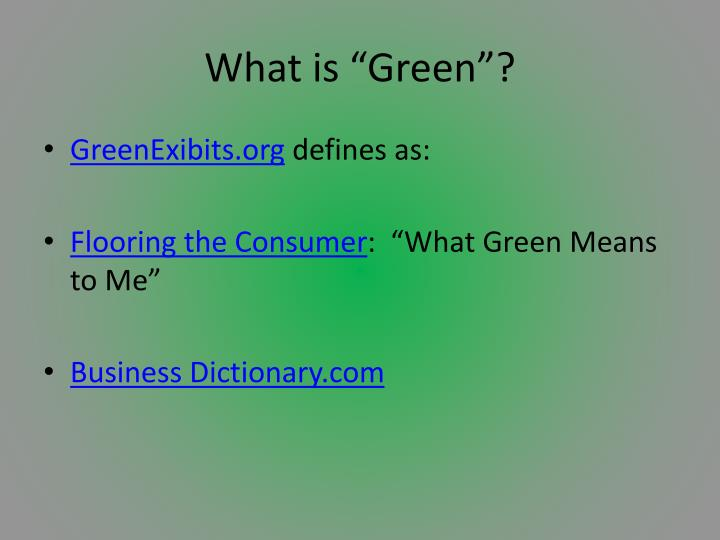 what is green n.