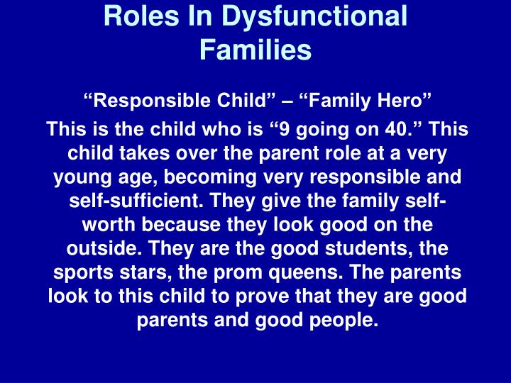 roles in dysfunctional families n.