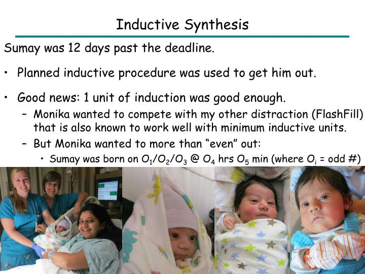 Inductive Synthesis