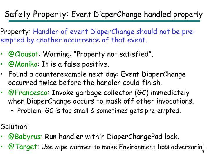 Safety Property: