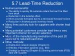 5 7 lead time reduction