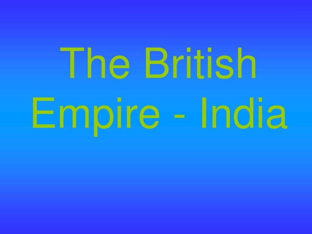 the british empire india l.