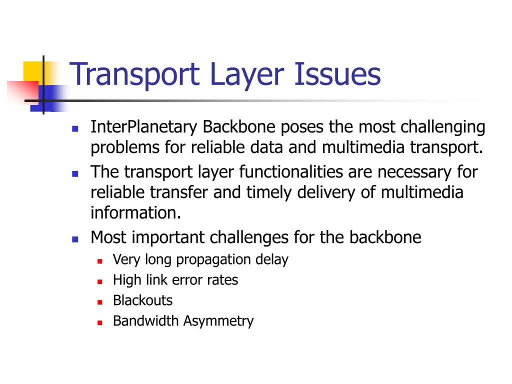 Transport Layer Issues