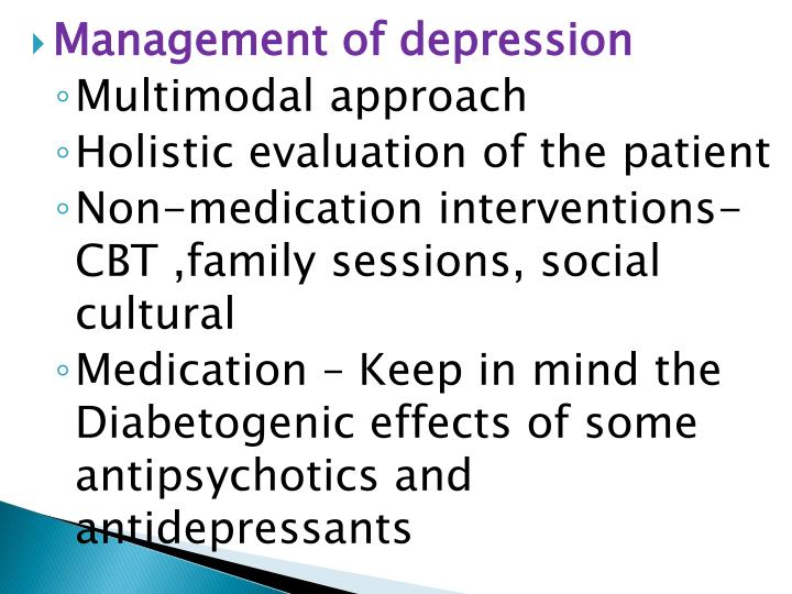 Management of depression