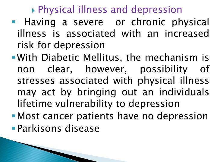 Physical illness and depression