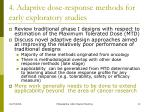 4 adaptive dose response methods for early exploratory studies