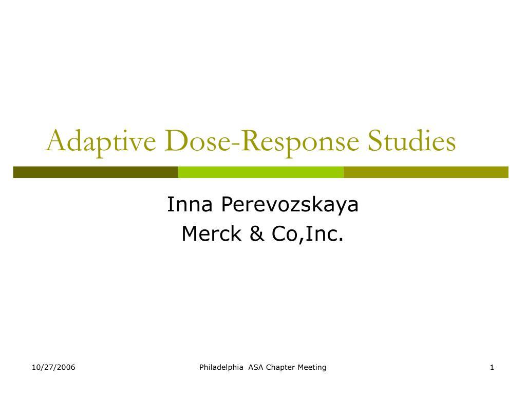 adaptive dose response studies l.