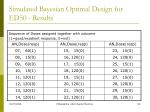 simulated bayesian optimal design for ed50 results