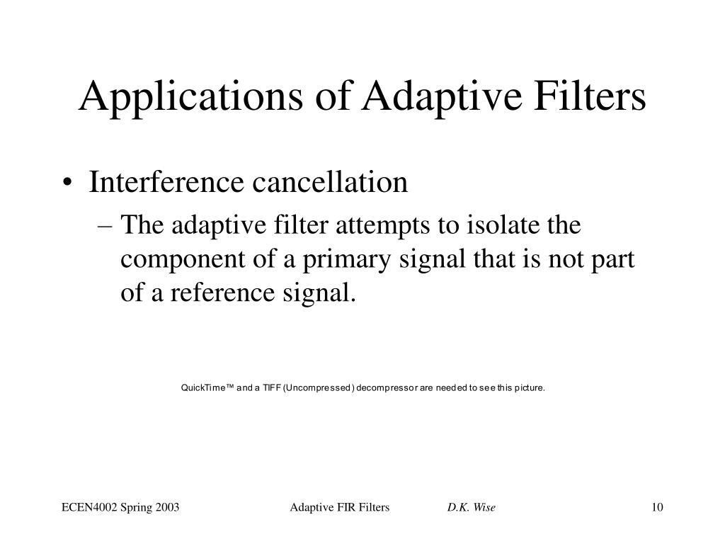 PPT - Adaptive FIR Filter Algorithms PowerPoint Presentation