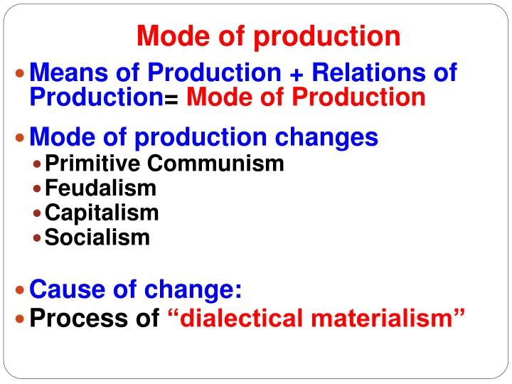 forces relations and modes of production Marx's basic theory of their material productive forces the sum total of these relations of production mode of production of material.