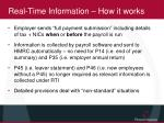 real time information how it works