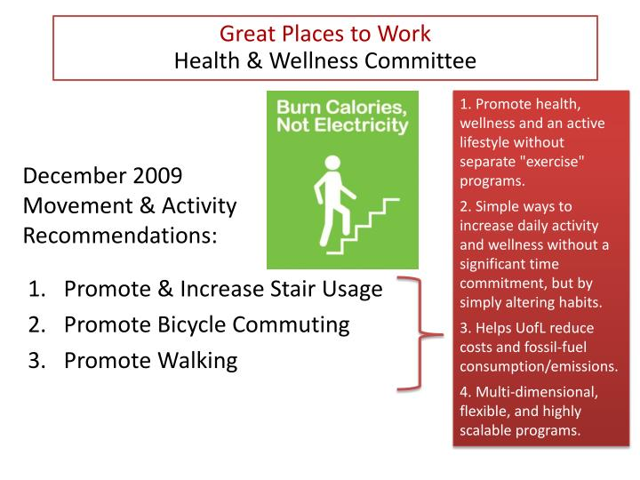 december 2009 movement activity recommendations n.
