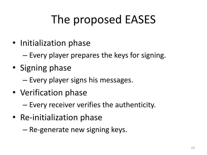 The proposed EASES