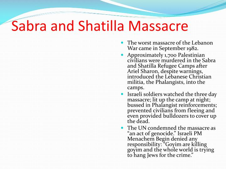Sabra and Shatilla Massacre