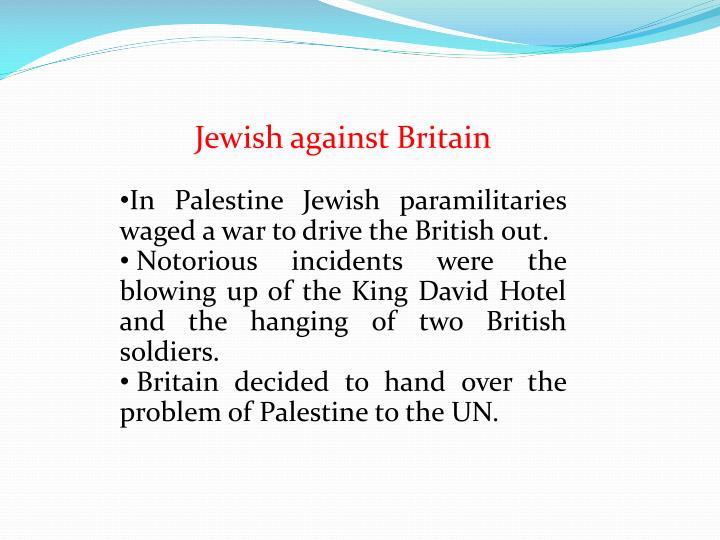 Jewish against Britain