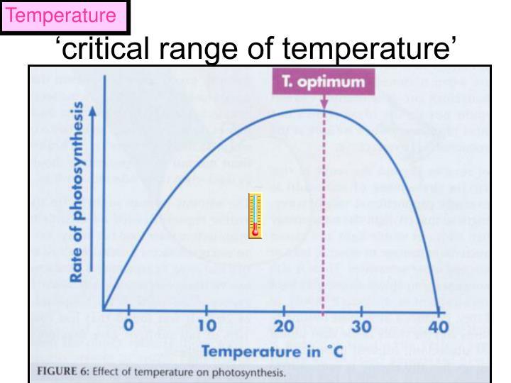 Critical range of temperature