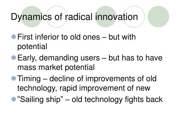 Dynamics of radical innovation