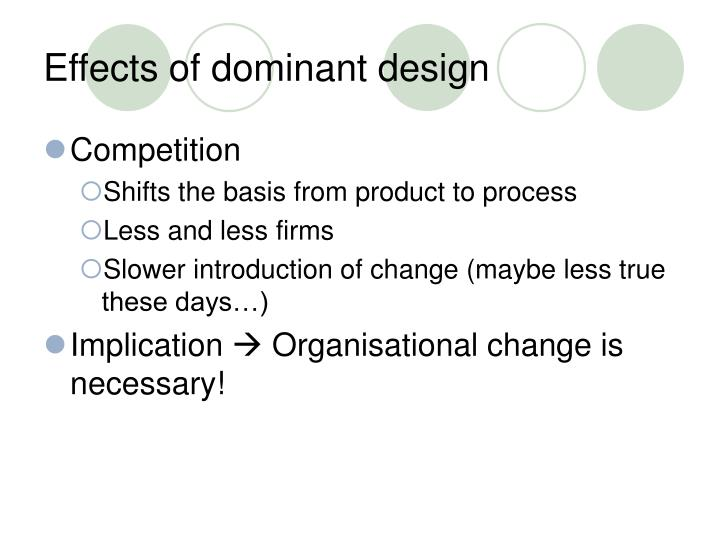 Effects of dominant design