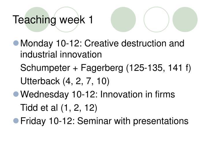 Teaching week 1