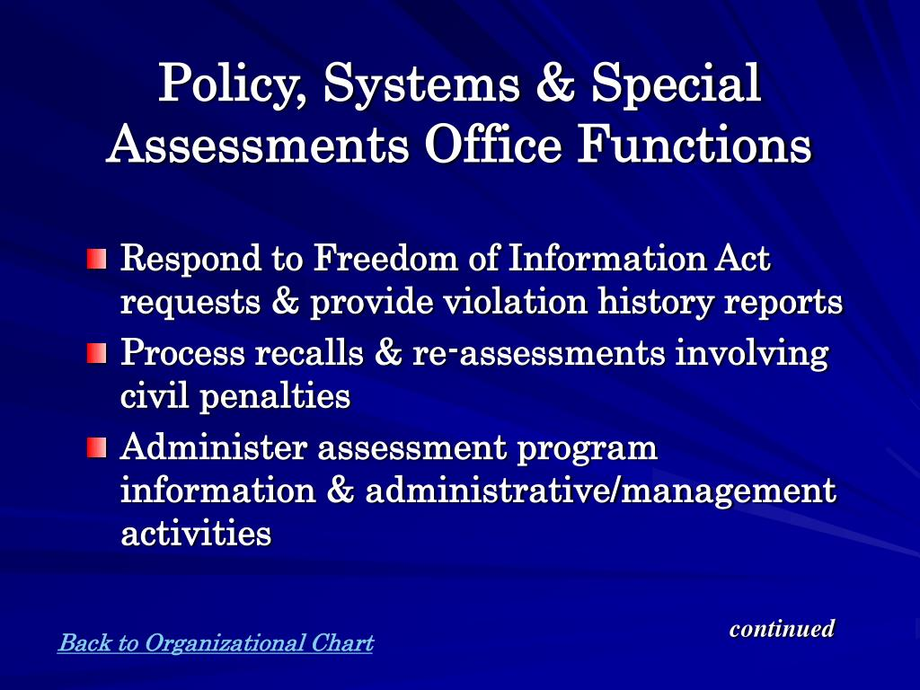 Policy, Systems & Special