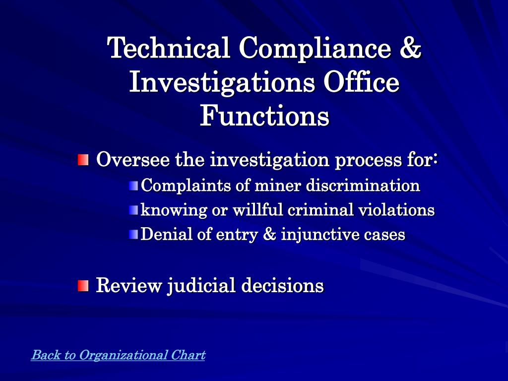 Technical Compliance & Investigations Office