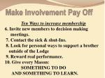make involvement pay off1